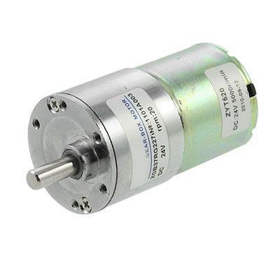 DealMux elétrica 37 milímetros Gearbox Diâmetro DC Motor engrenado 0.33A 20rpm 24V
