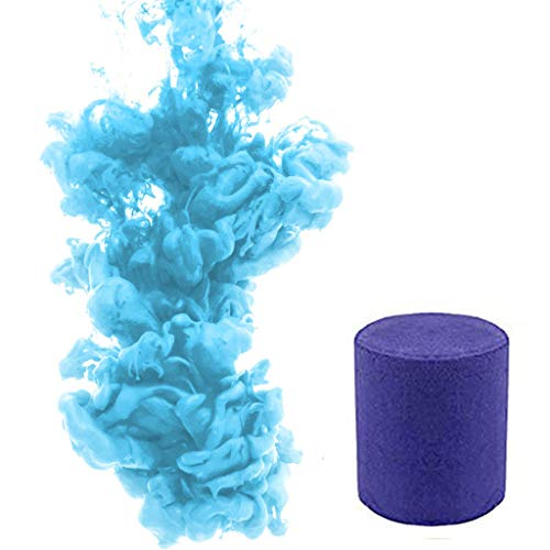1/6pcs Smoke Cake Colorful Smoke Effect Show Round Bomb Stage Photography  Aid Toy Gifts (Blue)
