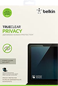 Belkin TrueClear Laptop Privacy Filter / Screen Protector for Touch-Screen Laptops, Notebooks and Ultrabooks (up to 13.3-Inch)(F7P325bt) by Belkin Components