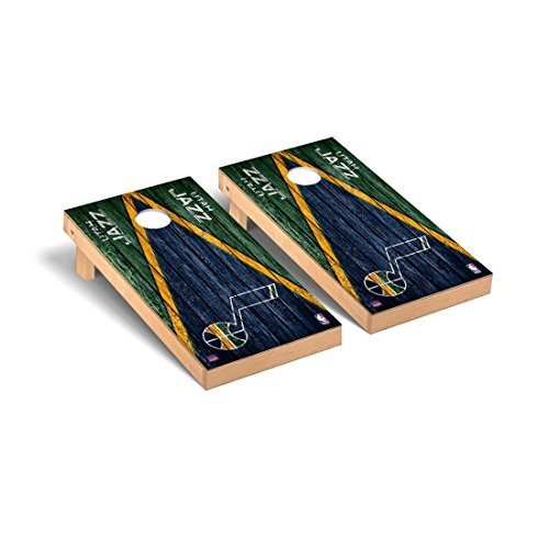 Victory Tailgate Utah Jazz NBA Basketball Regulation Cornhole Game Set Triangle Weathered Version (Jazz Utah Bag)
