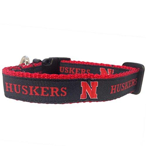 All Star Dogs NCAA Nebraska Cornhuskers Dog Collar (Team Color, Small)
