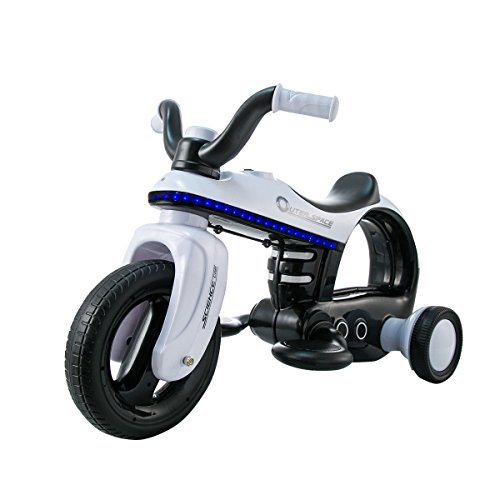 Costzon Ride On Motorcycle, 6V Battery Powered Ride On Three Wheeler, Electric Toys for Boys and Girls 3 - 5 Year Olds (White)