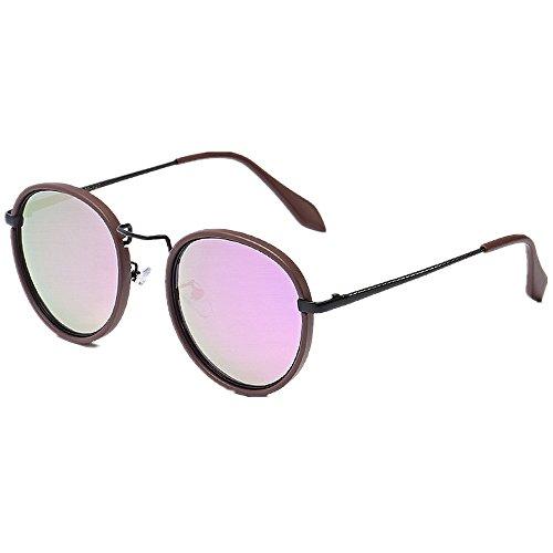 9b747423d2 85% OFF Exquisito redondo pequeño gafas de sol polarizadas para mujer  Protección UV de alta ...