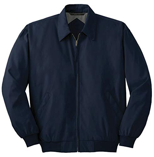 (Joe's USA Men's Big Casual Microfiber Jacket-Navy-2XL)