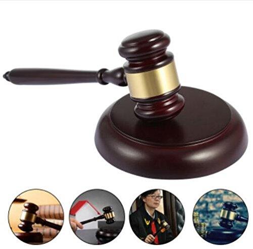 Sourcemall martelletto di legno e blocco per Avvocato Giudice asta vendita