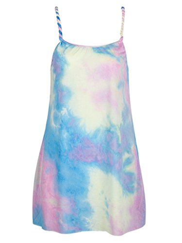 Dye Cami (Choies Women Tie Dye Print Cami Party Dress Sleeveless Homecoming Shift Dress)