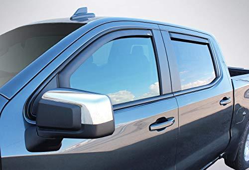 (Wade 4-Piece Black Matte in-Channel Wind Deflectors Vent Visors for 2019 Chevrolet/Chevy Silverado 1500 Crew Cab / 2019 GMC Sierra 1500 Crew Cab)