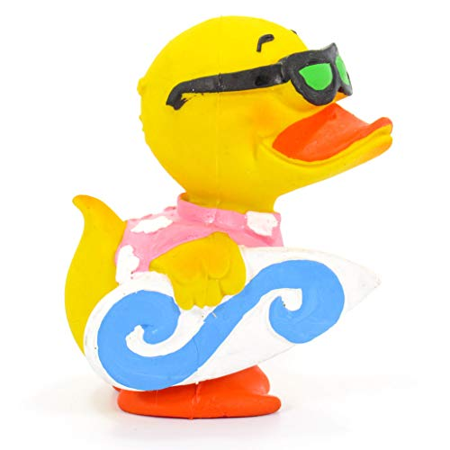 LANCO Surfer Rubber Duck Bath Toy | All Natural, Organic, Eco Friendly, Squeaker | Imported from Barcelona, Spain
