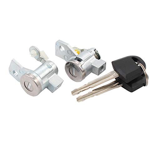 - NewYall Front Left Driver & Right Passenger Side Door Lock Cylinder w/Keys