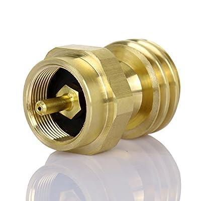 PanelTech 1lb Propane Refill Adapter Tank Gas Cylinder LP Heater Camping Fishing Brass