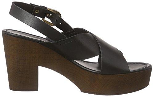 Vmflica Femme Noir Moda Noir Vero Sabots Sandal Leather qSFTXFna5