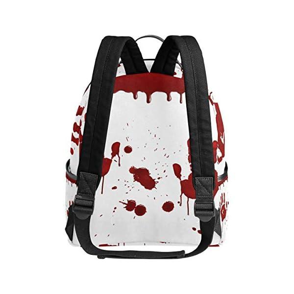Halloween Handprint zaino spaventoso per donne adolescenti ragazze borsa moda borsa libreria bambini viaggio università… 3 spesavip