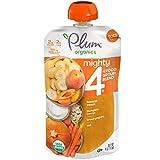 Plum Organics Tots Mighty 4 Toddler Food, Pumpkin, Carrot, Banana, Pomegranate, Greek Yogurt, Quinoa and Oat, 4 Ounce (Pack of 6)