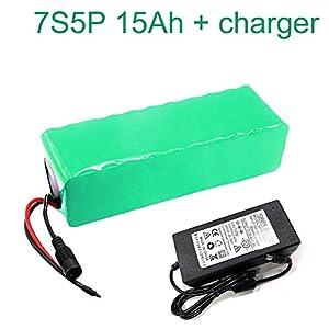 41R5EqpTFDL. SS300 24V 15Ah 25.9V 7S5P Li-ion Batteria elettrica e-bike bici elettrica con caricabatterie 230x70x60mm