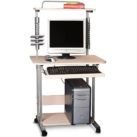 Mesa para ordenador Mesa para computadora Mesa con ruedas Estante para CD: Amazon.es: Hogar
