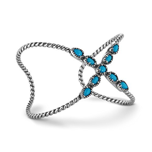 Carolyn Pollack Sterling Silver Sleeping Beauty Turquoise X Bracelet by Carolyn Pollack