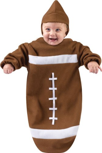 amazoncom infant bunting halloween football costume sz 0 9 month clothing - Halloween Costume Football
