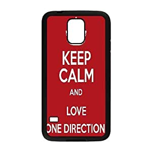 ONE DIRECTION Quotes,Keep Calm and LOVE ONE DIRECTION. Samsung Galaxy S5 Cases, Bloomingbluerose {Black}