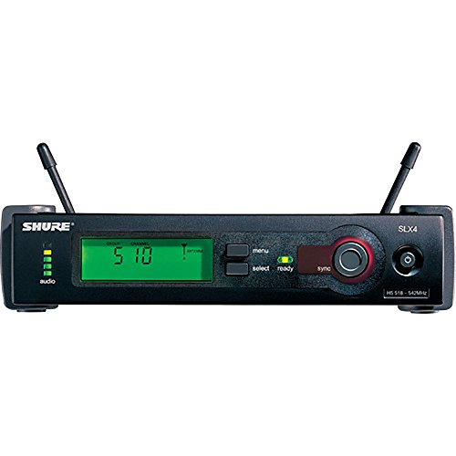 (Shure SLX4L Wireless Diversity Receiver with TTL Logic Output, Power Supply, 1/4 Wave Antenna and Rack Mount Hardware, H19)