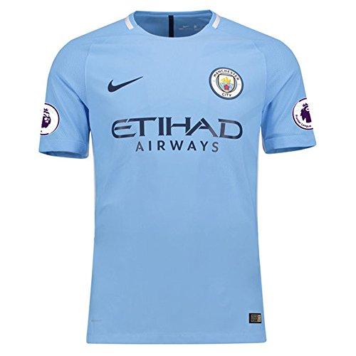 - NIKE 2017/18 Men's Manchester City Home Replica Blank Match Jersey - Blue (M)