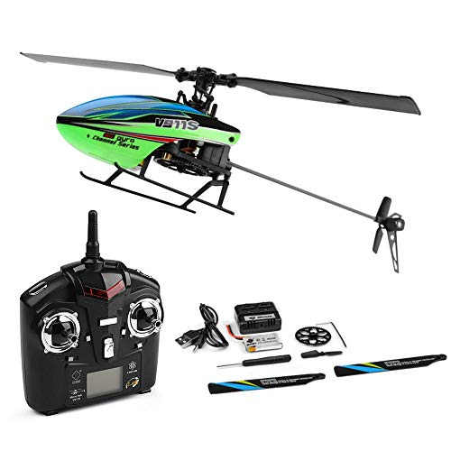 Womdee RC Helicopter for Beginner 4 Channels 2.4GHz Mini RC Helicopter Gyro RTF Radio Single Propeller Stunt Copter with Gyroscope More Stable Flight Right Hand Throttle