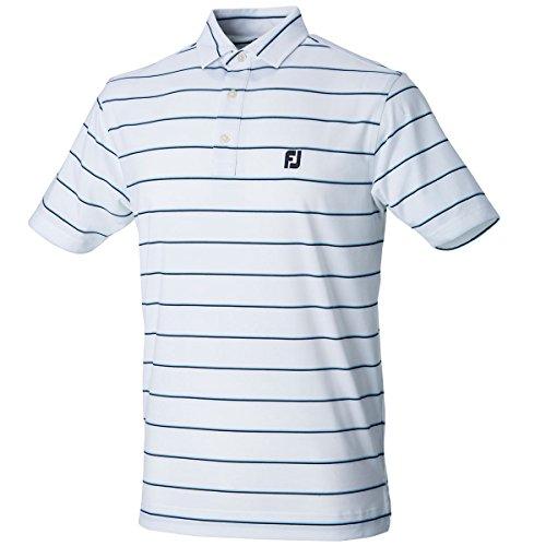 フットジョイ Foot Joy 半袖シャツ?ポロシャツ ストレッチストライプ半袖ポロシャツ