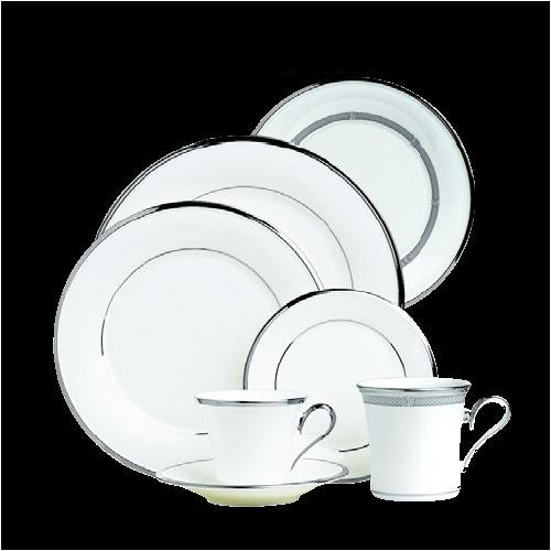 (Lenox Solitaire White #N/A Cups & Saucers )