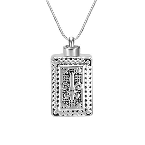 Celtic Knot Vintage Bottle Cremation Jewelry Urn Locket Pendant-Stainless Steel Memorial-Ash Keepsake Pendant Necklace (Engraving) ()