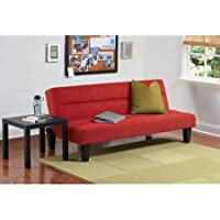 Convertible Futon Sofa Sleeper Bed (Red)