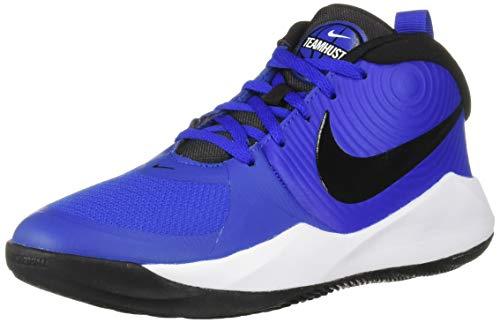 Nike Unisex Team Hustle D 9 (GS) Sneaker, Game Royal/Black - White, 4Y Regular US Big Kid (Boys Size 4 Shoes Nike)