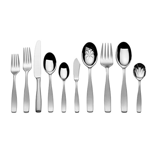 Mikasa Satin Loft 20-Piece Flatware Set, Service for (Satin Cold Meat Fork)