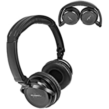 1 Two Channel Fold Flat Adjustable Child-Adult Size Universal Rear Entertainment System Infrared Headphone Wireless IR DVD Player Head Phone for in Car TV Video Audio Listening