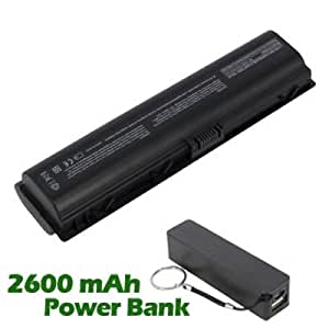 Battpit Bateria de repuesto para portátiles HP Pavilion DV6830US (8800mah/95wh) con 2600mAh Banco de energía/batería externa (negro) para Smartphone