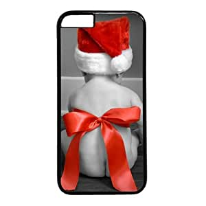 """Baby Wearing Christmas Hat Theme Case for iPhone 6 Plus (5.5"""") PC Material Black"""