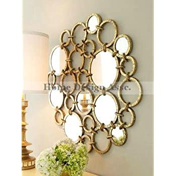 Amazon Com Extra Large Mirrored Rings Circles Modern Gold