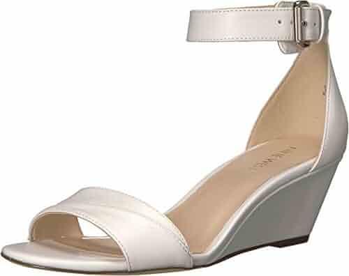 Nine West Women's Prettysis Synthetic Wedge Sandal