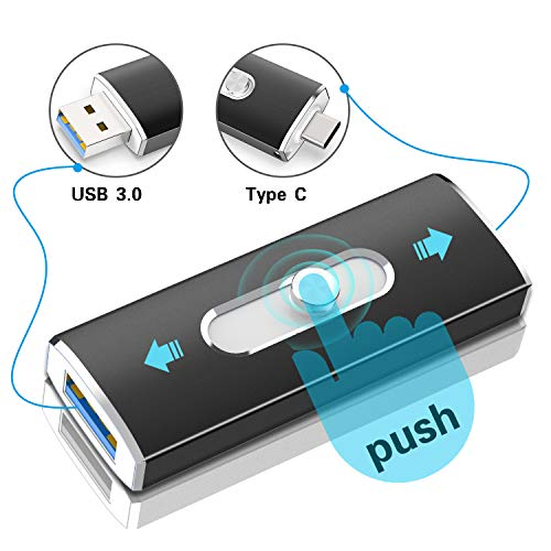 TOPESEL 64GB USB 3.0 Type C Dual OTG Flash Drive USB C Thumb Drive Memory Stick for USB-C Smartphones,Tablets & New MacBook