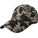 Quaanti Camouflage Baseball Cap Men Special Tactical Baseball Hat Boys Snapback Trucker Cap Classic Plain Work Sports Caps (D)