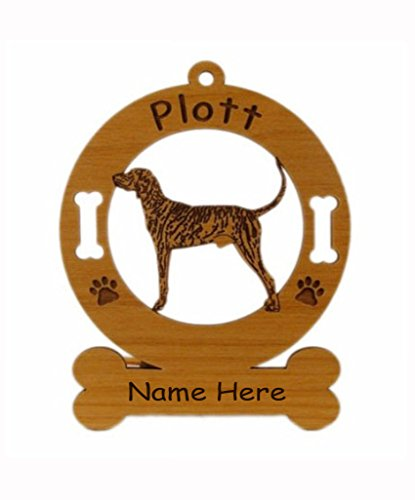 3711 Plott Hound Standing Ornament Personalized with Your Dog's Name