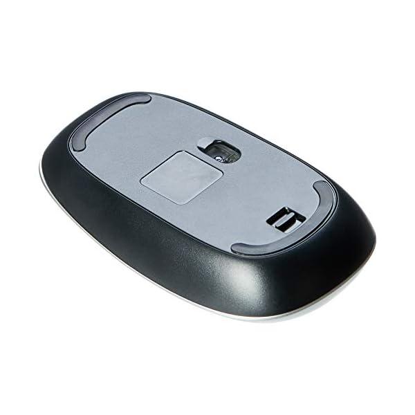 Amazon Basics Slim Wireless Bluetooth Mouse, Silver