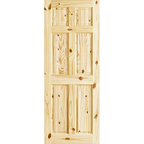 Colonial Six Panel Knotty Pine Passage Door, 30