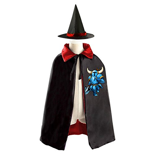 Shovel Knight Childrens' Halloween Costume Cloak Print Robe Wizard Hat Cosplay For (Marilyn Manson Halloween Costumes)