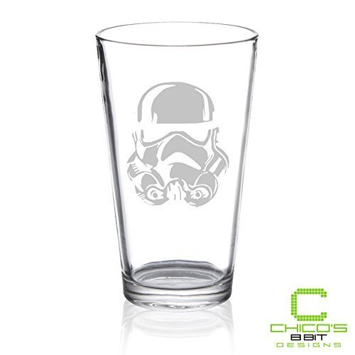 Star Wars - Storm Trooper - Etched Pint Glass