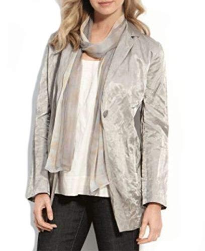 Eileen Fisher Italian Satin Stone Jacket PL MSRP $368