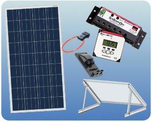 RV Solar Panel Kit - 100W 12V Charging System Tilt