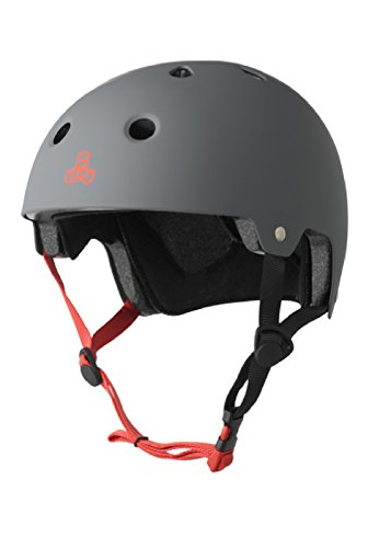 Triple Eight Dual Certified Bike and Skateboard Helmet, Gun Matte, Large / X-Large