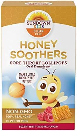 Sundown Kids Honey Soother Sore Throat Lollipops