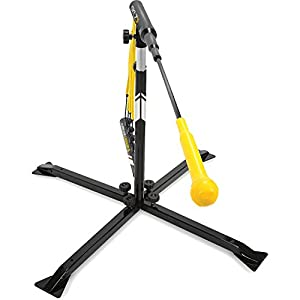 SKLZ Hurricane Category 4 Batting Trainer, Solo Swing Trainer for Baseball and Softball, Tee Practice or Dynamic Moving Target, Adjustable Height for any Player or Ball Position, Develop Swing Power