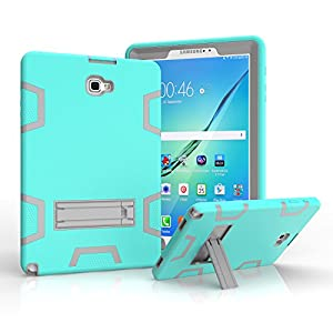 Samsung Galaxy Tab A 10.1 with S pen Case,Jeccy 3in1 Full-body Shock Proof Hybrid Heavy Duty Armor Defender Protective Case,Silicone Skin Hard Plastic Case for Samsung Tab A 10.1 with S pen P580/P585