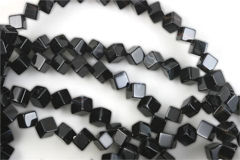 Black Onyx Beads Cube 6mm (2205) (Black Onyx Cube Beads)